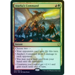 Atarka's Command FOIL DTK NM