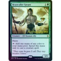 Beastcaller Savant PRE-RELEASE FOIL BFZ NM