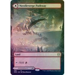 Needleverge Pathway // Pillarverge Pathway (Borderless) FOIL ZNR NM