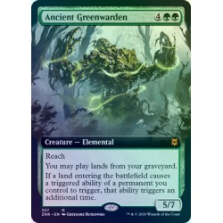 Ancient Greenwarden (Extended) FOIL ZNR NM