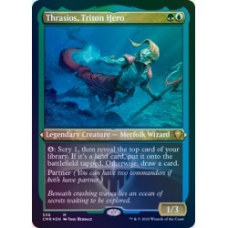 Thrasios, Triton Hero ETCHED FOIL CMR NM