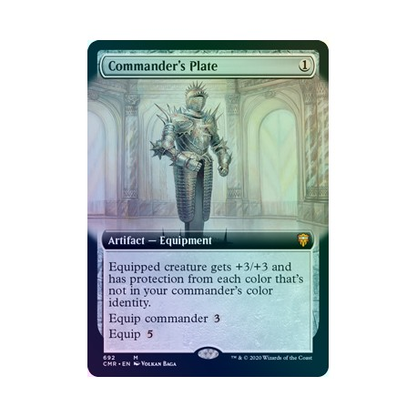 Commander's Plate (Extended) FOIL CMR NM